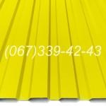 Профнастил Желтый RAL 1018 профлист, металлопрофиль купить, цена Винница