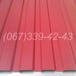 Профнастил Красный RAL 3011 профлист, металлопрофиль купить, цена Винница