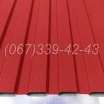 Профнастил матовый Красный RAL 3011 профлист, металлопрофиль   Купить, заказать, цена Винница