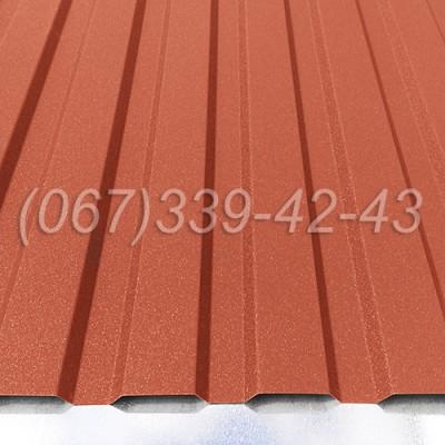 Профнастил матовый Красный RAL 3011 профлист, металлопрофиль | Купить, заказать, цена Винница