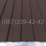 Профнастил матовый Коричневый RAL 8019 профлист, металлопрофиль   Купить, заказать, цена Винница